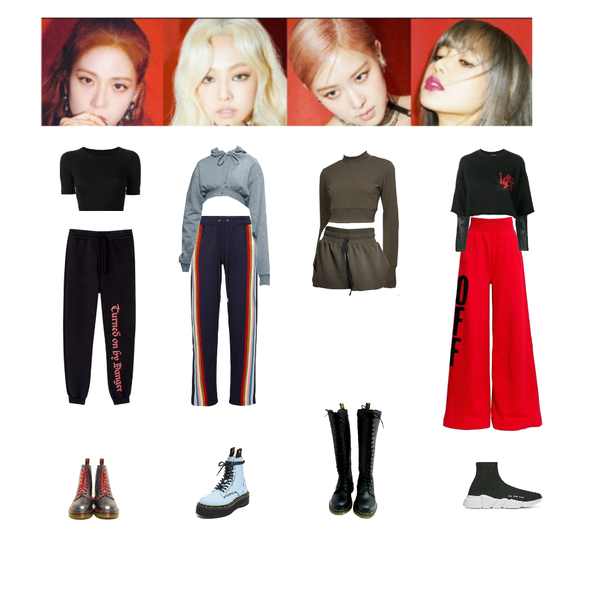 Fashion Set Kill This Love Dance Practice Created Via Kpop Fashion Outfits Bts Inspired Outfits Preformance Outfits