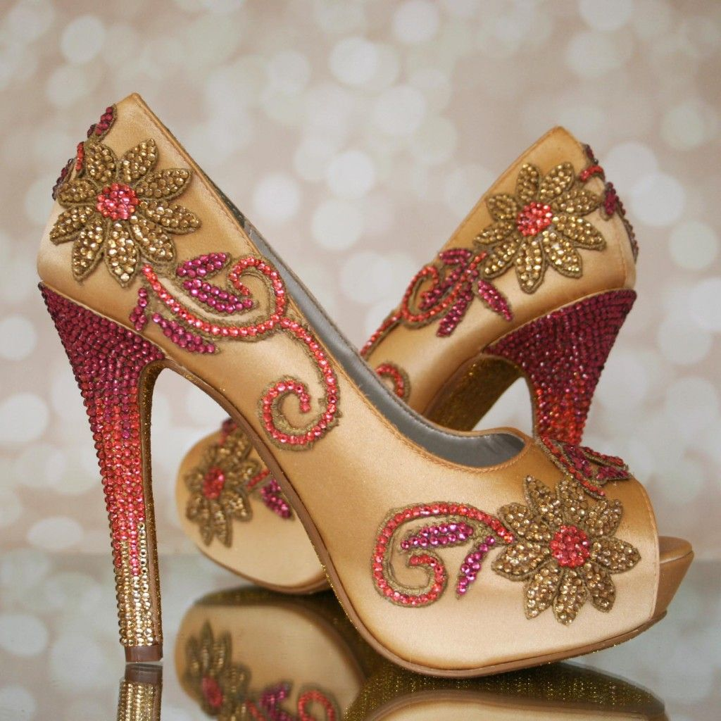 Indian Wedding Shoes Custom Wedding Shoes Designed For An Indian