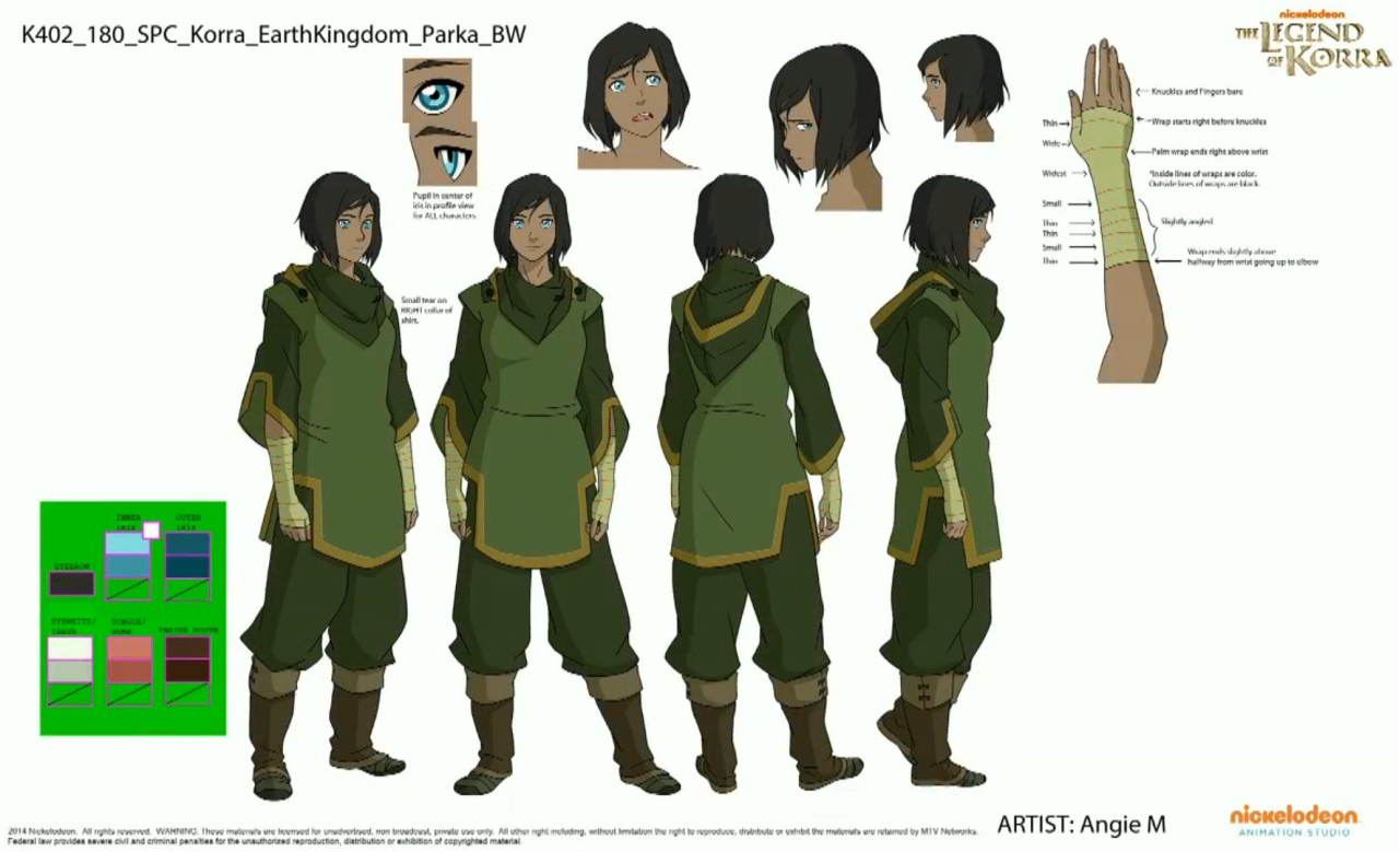 avatar character sheet bend it like korra #modelsheet #lok #legendofkorra | avatar