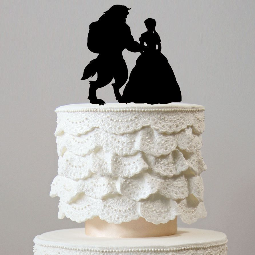 Beauty And The Beast Wedding Cake Toppers (Fairytale /Princess ...