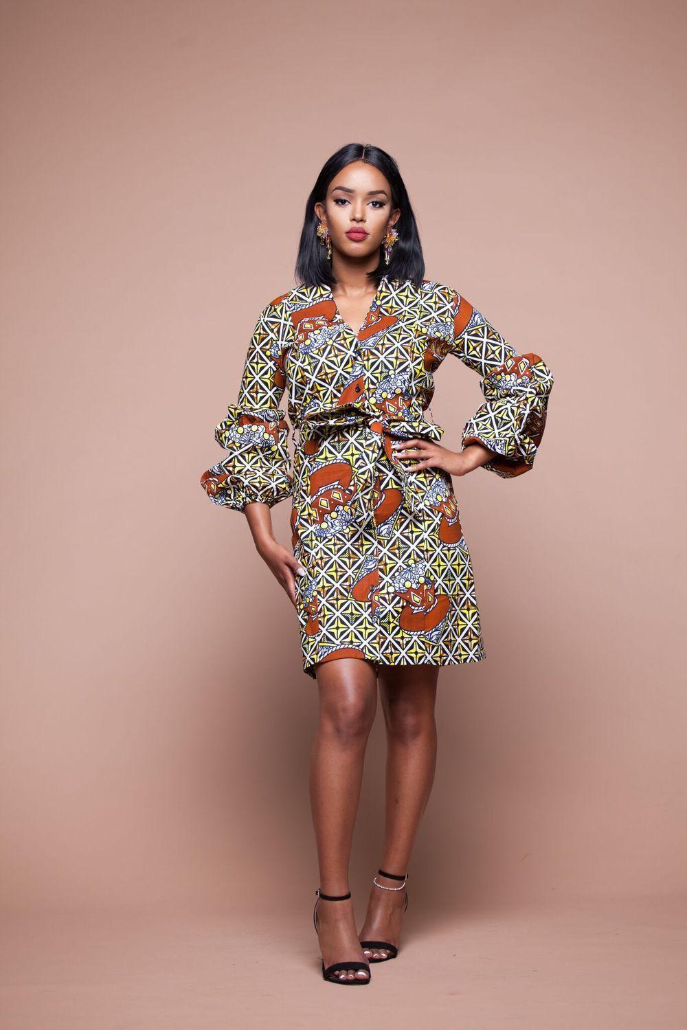 African Print Senegal Midi Dress: AFRICAN PRINT JUMA MIDI DRESS