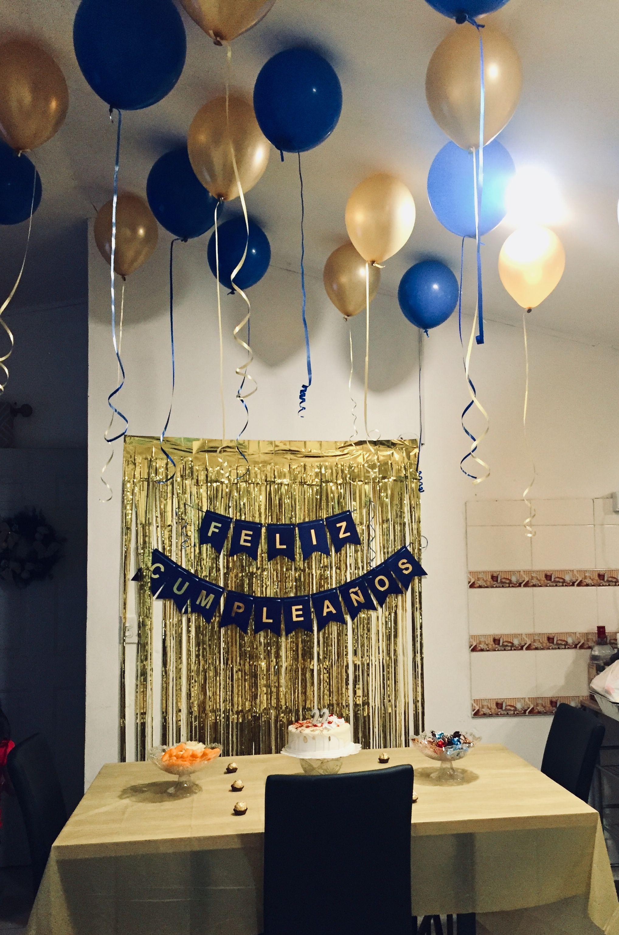 Decoracion Azul Y Dorado