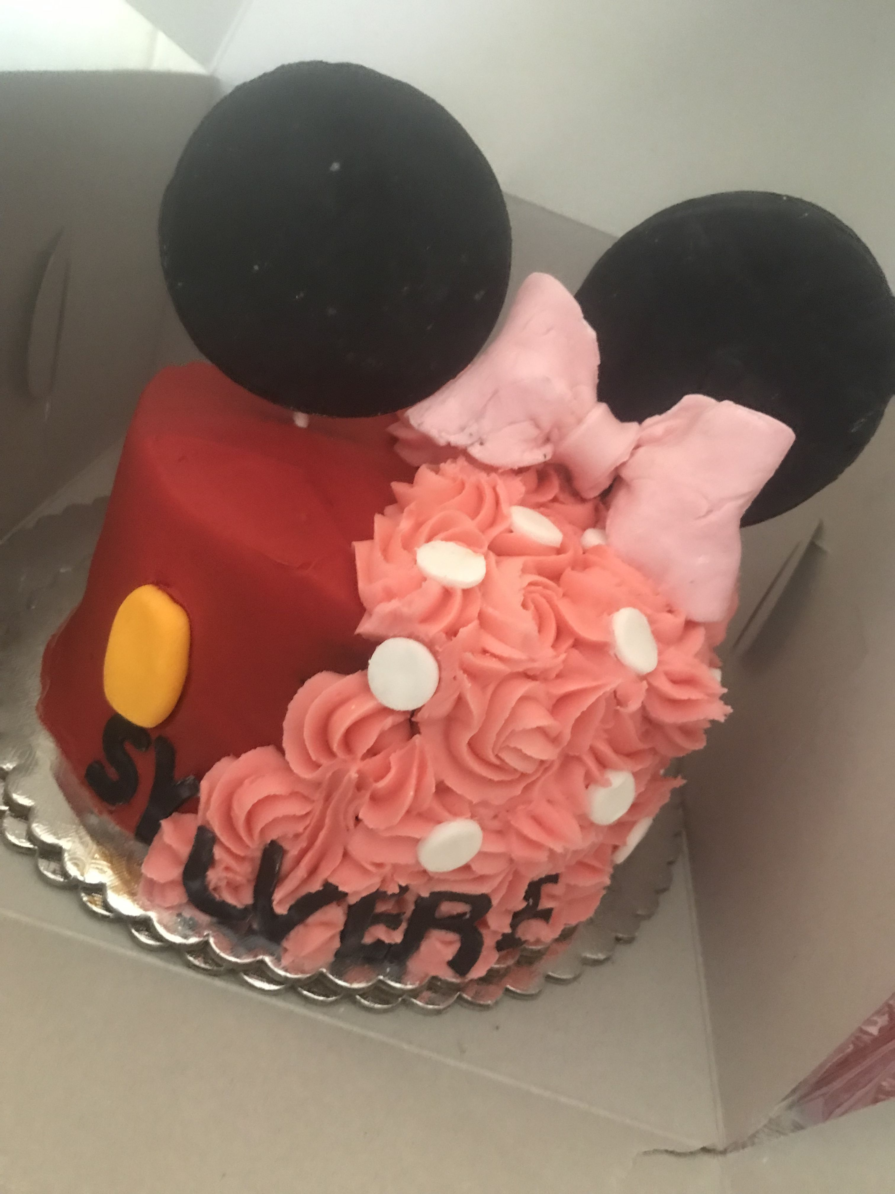 Mickey and minnie mouse cake cake birthday cake kids