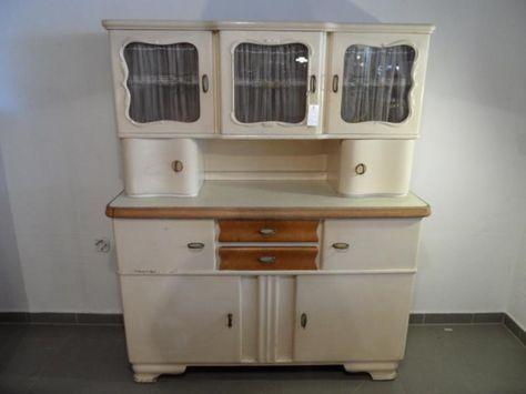 ruempelstilzchen 40er jahre k chenbuffet gelsenkirchener barock chalk paint k che. Black Bedroom Furniture Sets. Home Design Ideas