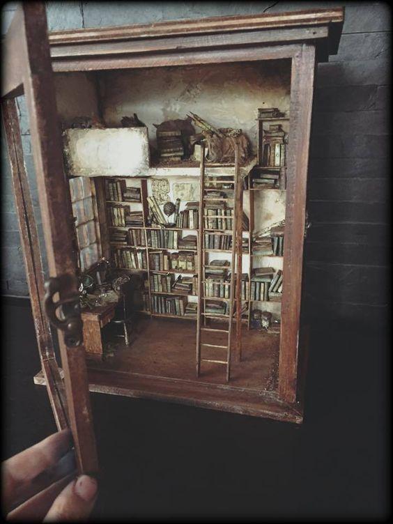 Miniatur-Bücherei-Bibliothek-miniatures- library (mit Bildern)   Puppenstuben ideen, Miniatur, Puppenstube - Welcome to Blog