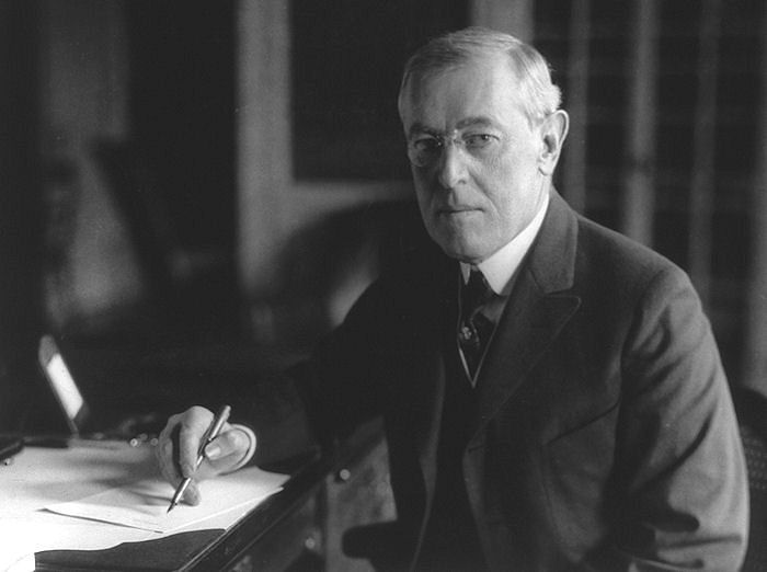 April 2, 1917 - President Woodrow Wilson appears before ...
