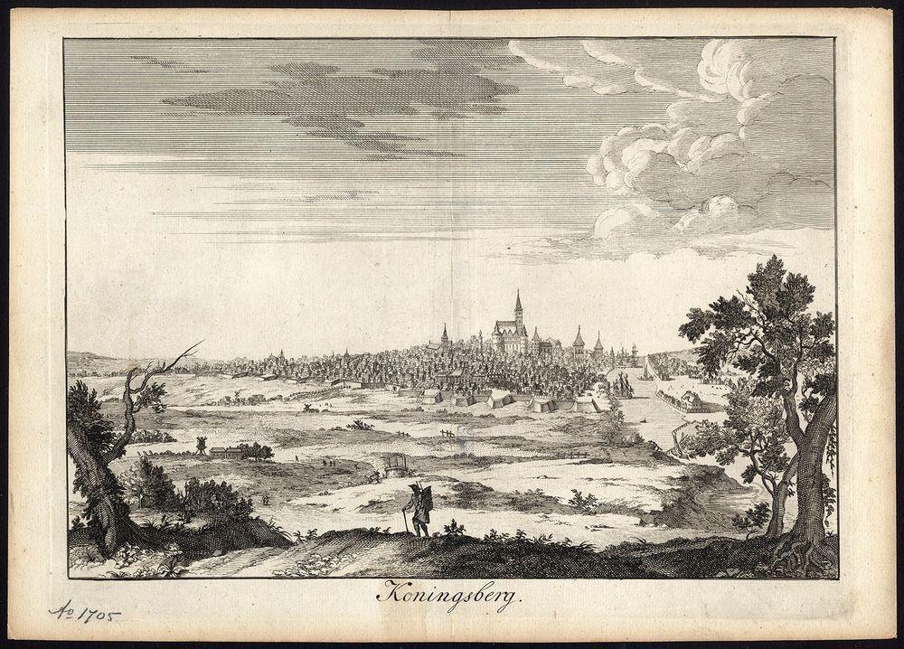 Antique Print-KONIGSBERG-KALININGRAD-GERMANY-RUSSIA-VIEW-Halma-1705