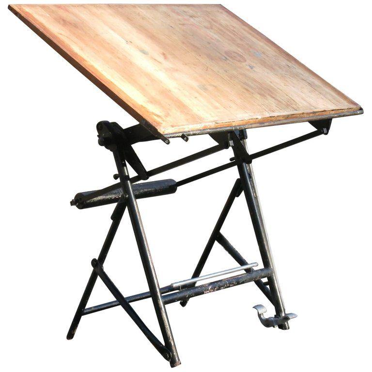 French Minimalist Drafting Table Vintage Drafting Table Drafting Table Work Table