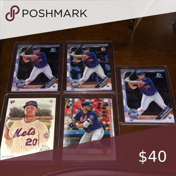 pete alonso new york mets rookie rc bowman chr lot in 2020 with