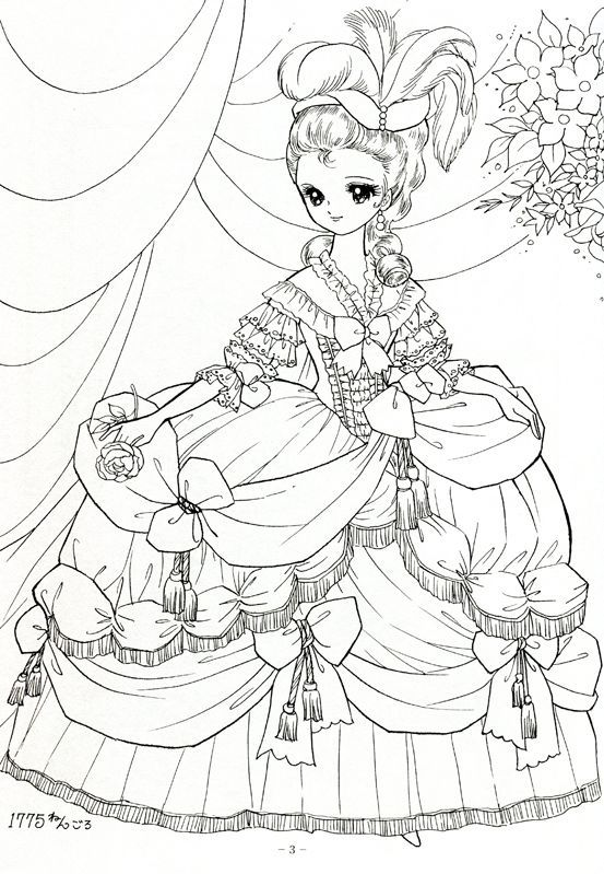 Japanese Shoujo Coloring Book 1 Mama Mia Picasa Web Albums Cute Coloring Pages Coloring Books Animal Coloring Pages