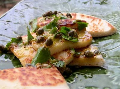 Fried Halloumi Cheese with Lemon & Caper Vinaigrette