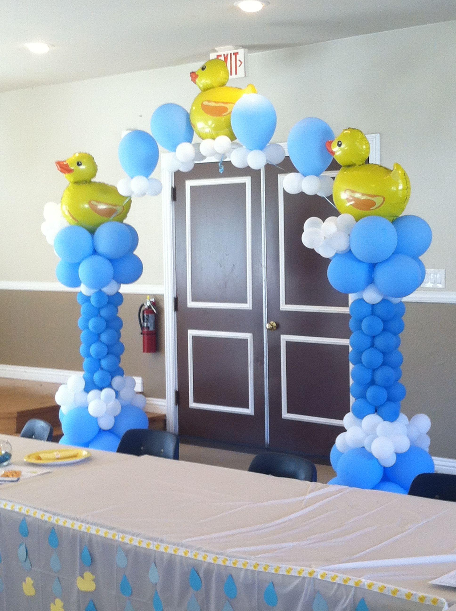 Rubber duck balloon decor Columns Pinterest