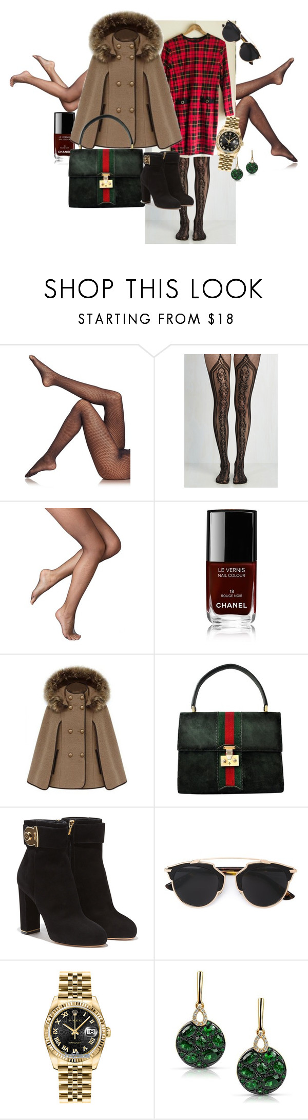 """""""Winter wear"""" by mandajenae ❤ liked on Polyvore featuring Fogal, Ralph Lauren, Chanel, Gucci, Salvatore Ferragamo, Christian Dior, Rolex, Marco Moore and vintage"""
