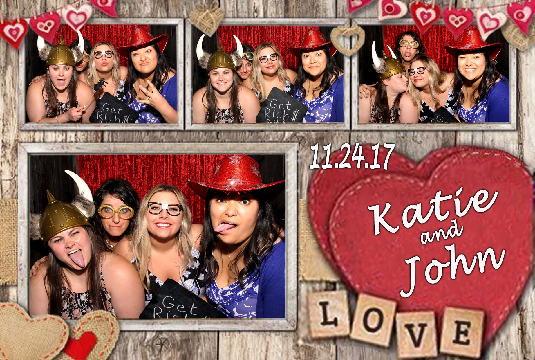 Our Rustic Wood Heart Photo Booth Template Free Wedding Photo