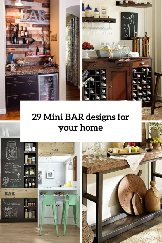 29 Mini Bar Designs That You Should Try For Your Home | Small Home ...