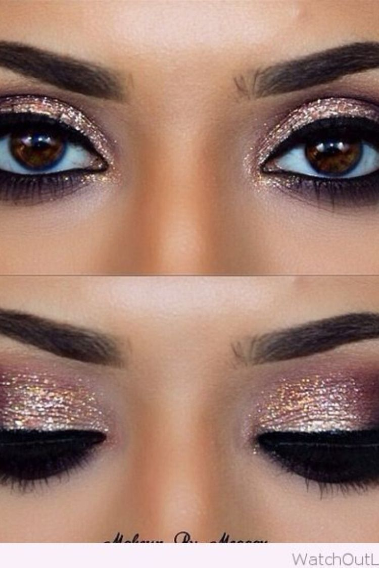 10 Amazing Eye Makeup Ideas For Brown Eyes Glittery Eye Makeup Glittery Eyes Eye Makeup
