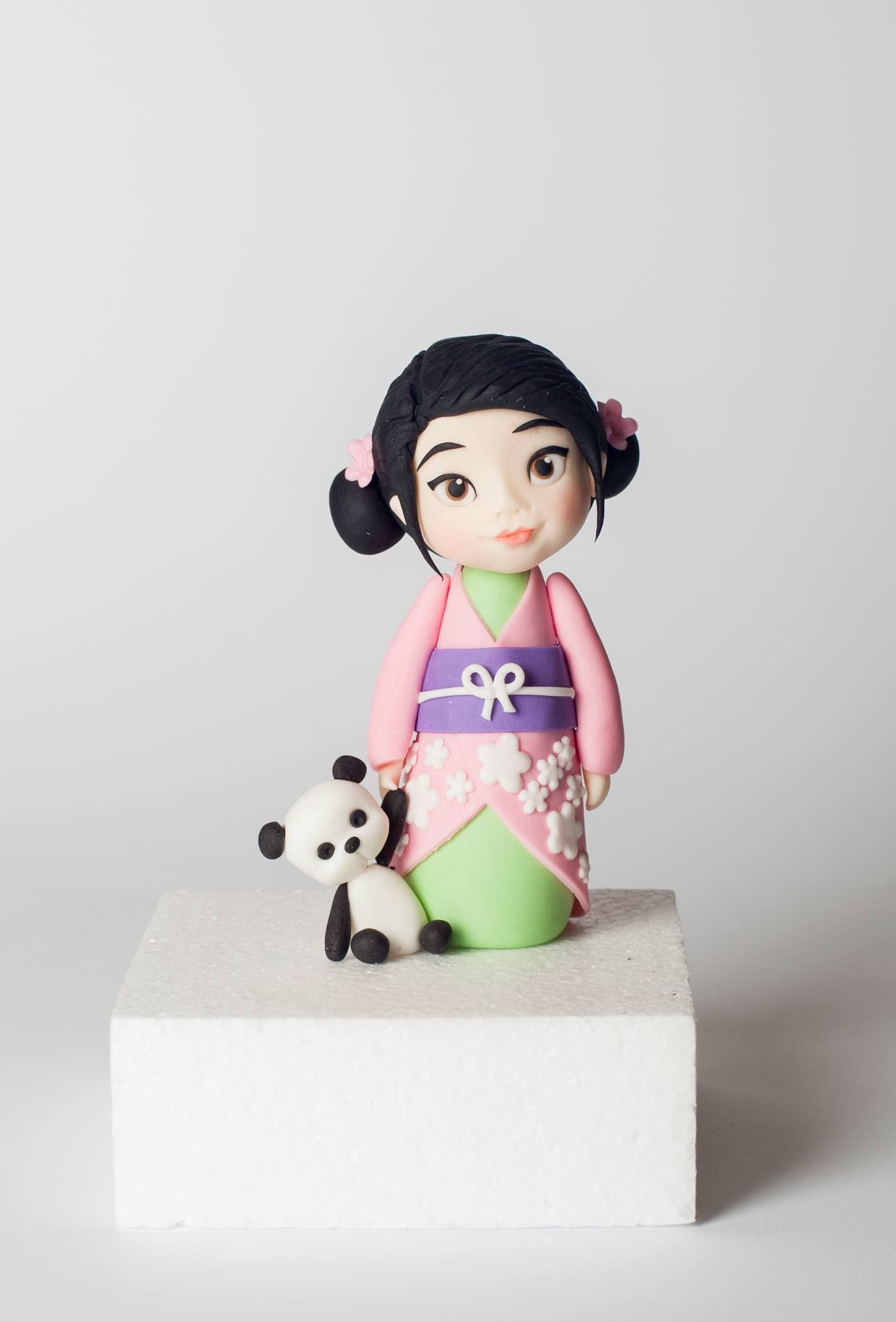 Chinese Girl cake topper