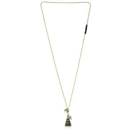 M.Cohen Beaded Chain With Antique Brass Tai Pendant