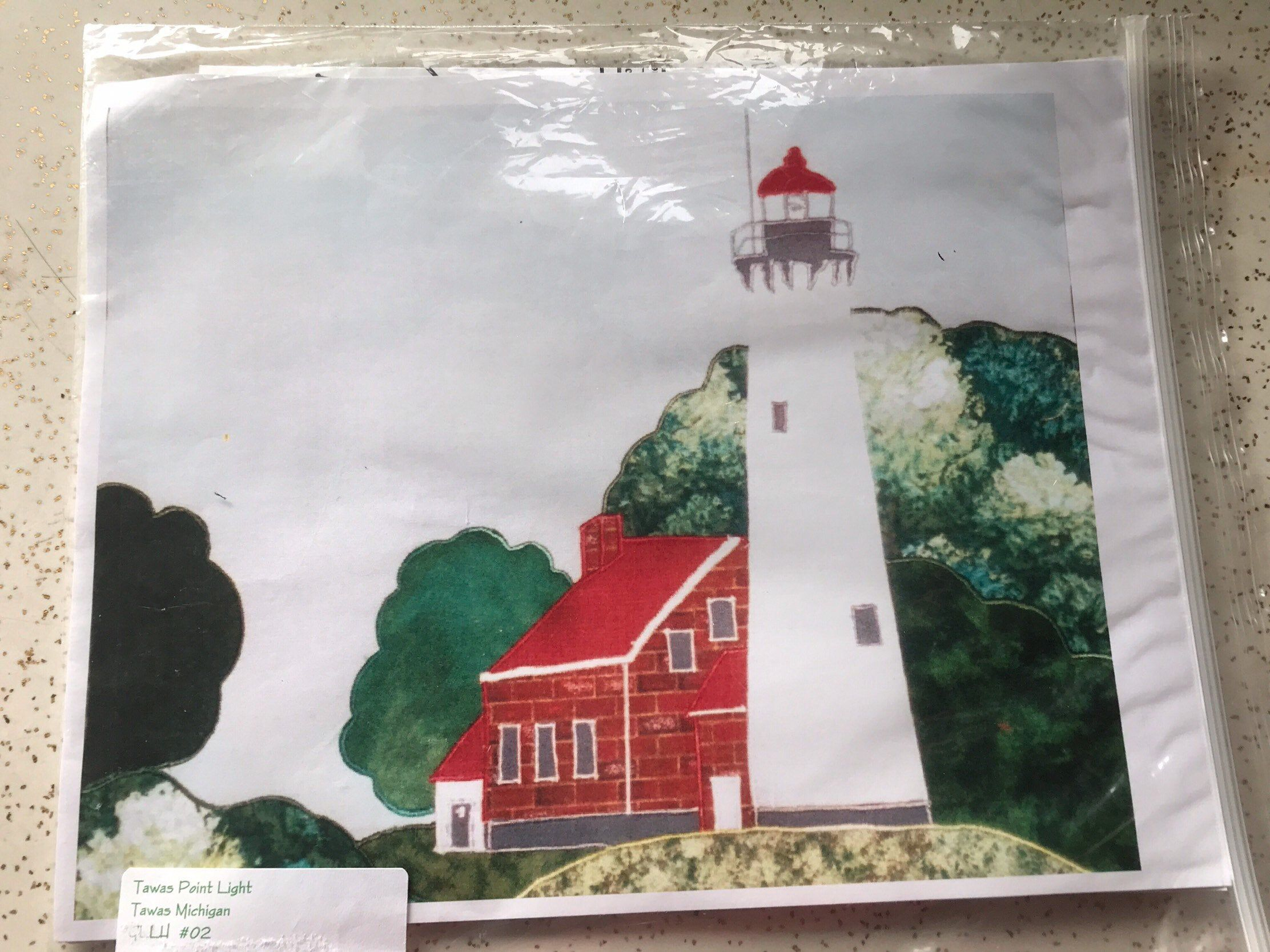 Excited To Share This Item From My Etsy Shop Tapas Point Lighthouse Michigan Great Lakes Lighthouses Quilting Appliqu Applique Pattern Lake Lighthouse Quilts