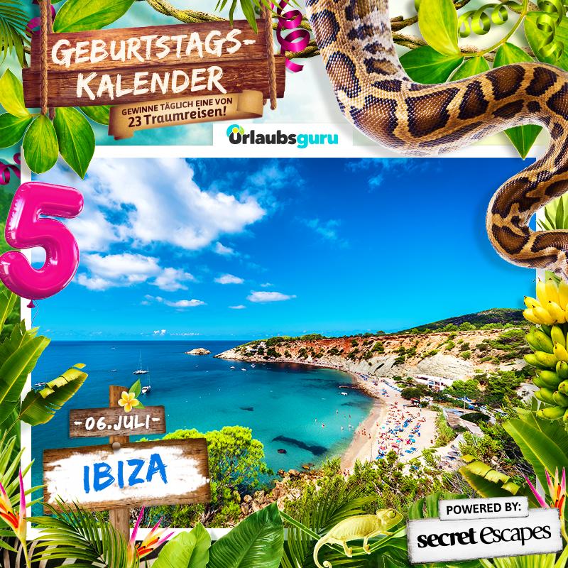 Gewinnt eine kostenlose Reise nach Ibiza! Sommer, Sonne, Party, Urlaub, Strand - das schreit nach Ibiza. Wer gerne einen gratis Urlaub auf Ibiza verbringen möchte, der sollte bei meinem Geburtstagskalender Gewinnspiel mitmachen und mit etwas Glück eine tolle Reise gewinnen.