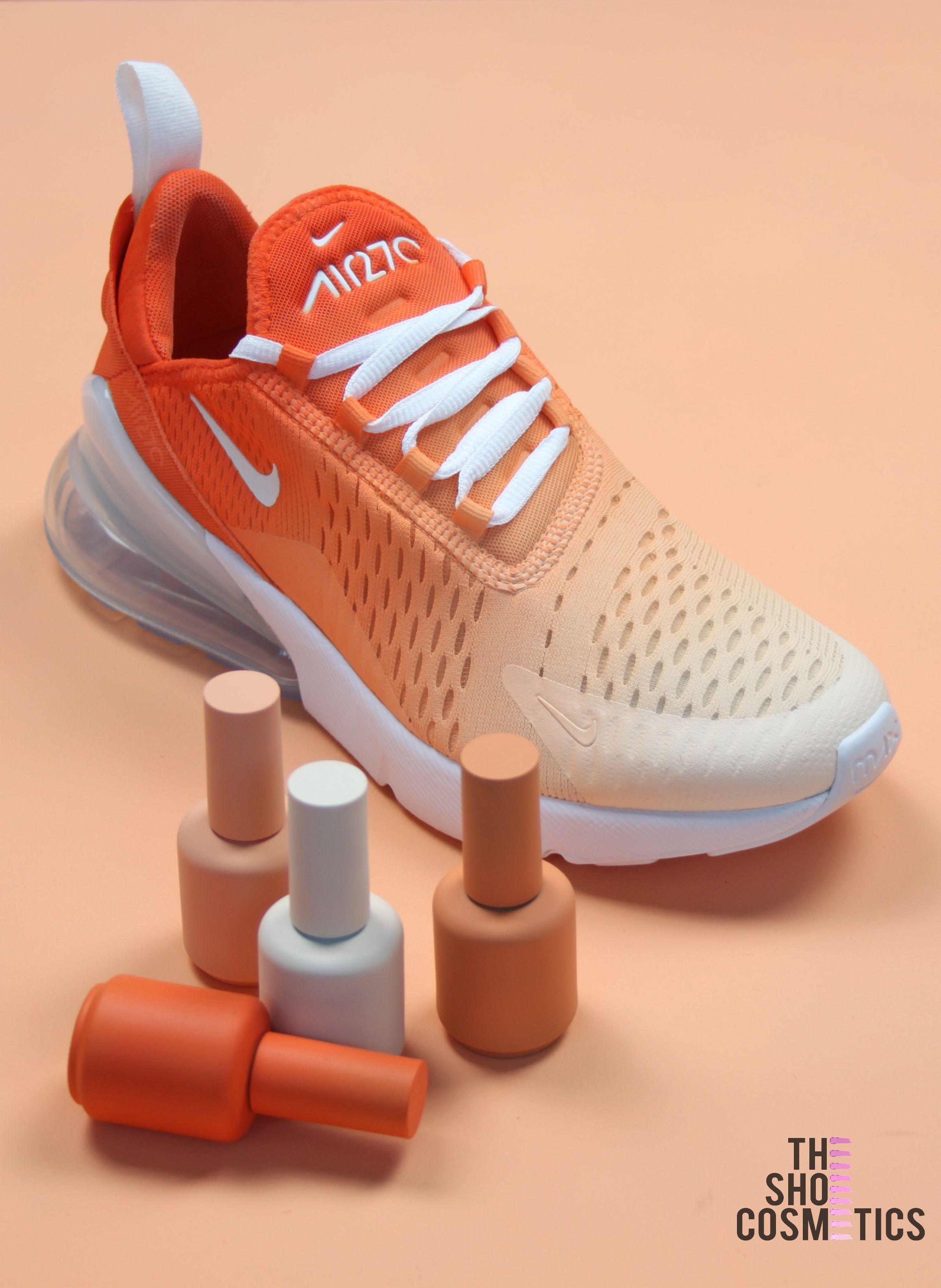 Orange ombre nike air max 270's custom shoes | Custom shoes