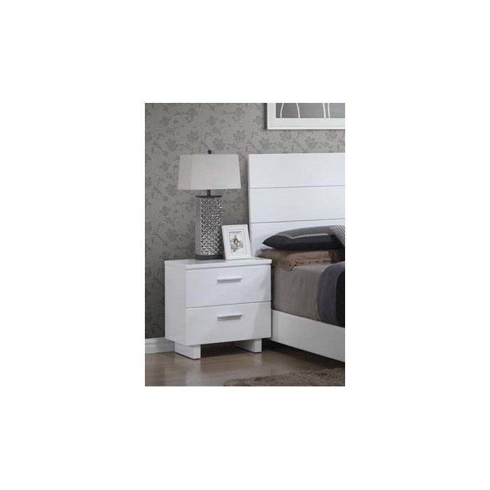 Best Dejohn 2 Drawer Nightstand Modern Nightstand 640 x 480