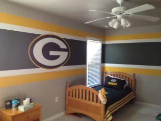 Greenbay Packers Kids Room Boy Room Paint Kids Room Paint Green Bay Packers Bedroom