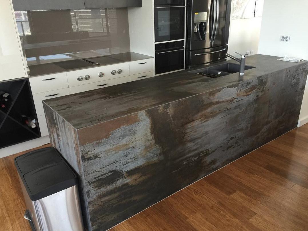 Dekton Trilium Is Just As Durable As It Is Beautiful In This Kitchen Island By Bossini Kitchens
