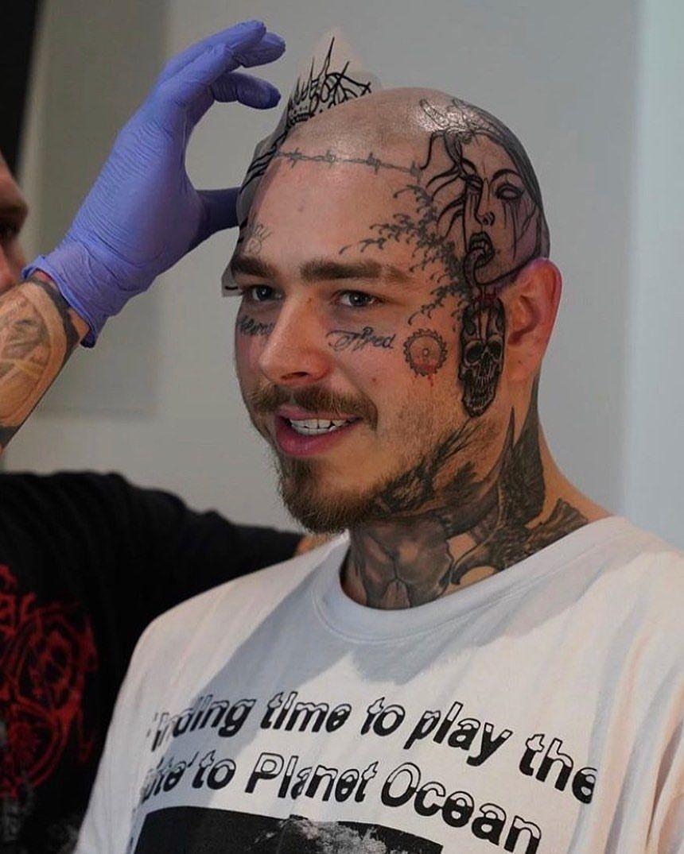 Post Malone Bald