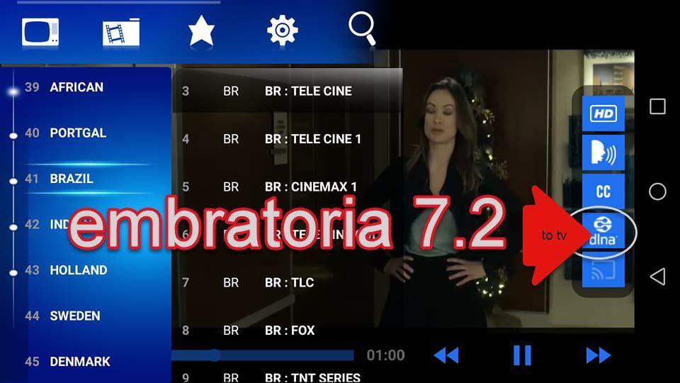 embratoria g7 pour smart tv