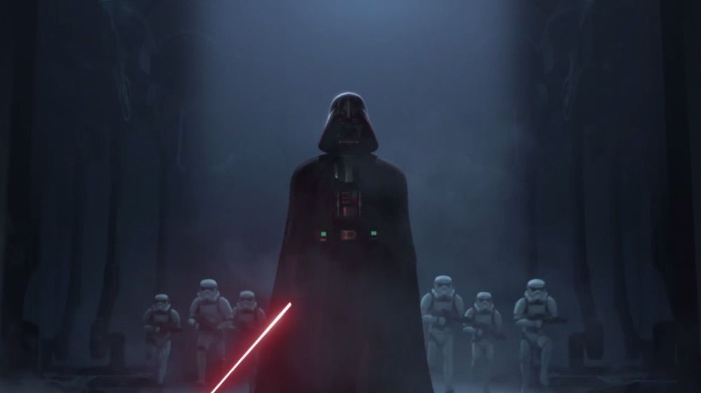 Star Wars Rebels - Darth Vader con los Stormtroopers