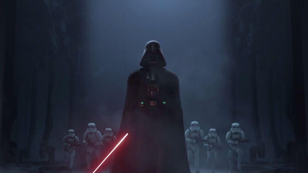 Star Wars Rebels - Darth Vader con los Stormtroopers