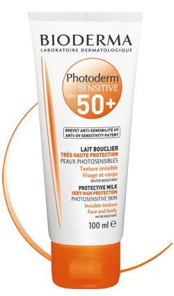 4f1f81869 Bioderma Photoderm Sensitive SPF 50+/UVA 40 Specific extreme  photoprotection for photosensitive skin that cannot tolerate any type of  sunshine: ...