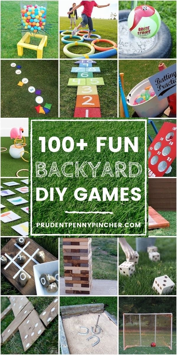 100 Fun DIY Backyard Games #games