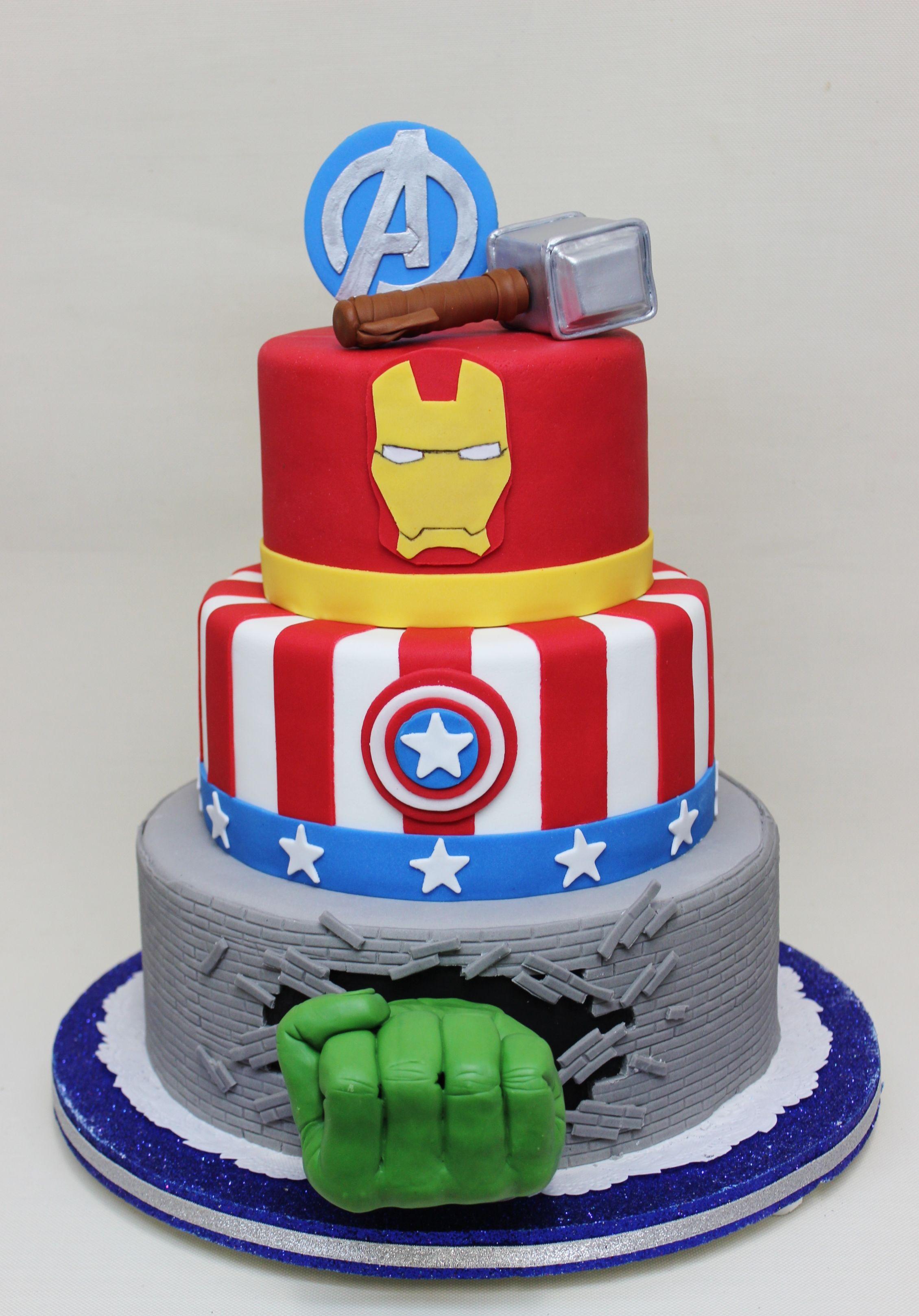 Avengers Cake Decorations