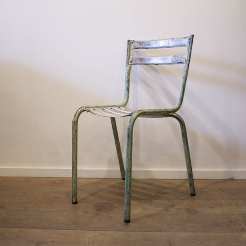1940 french vintage industrial metal chair Chaises Pinterest