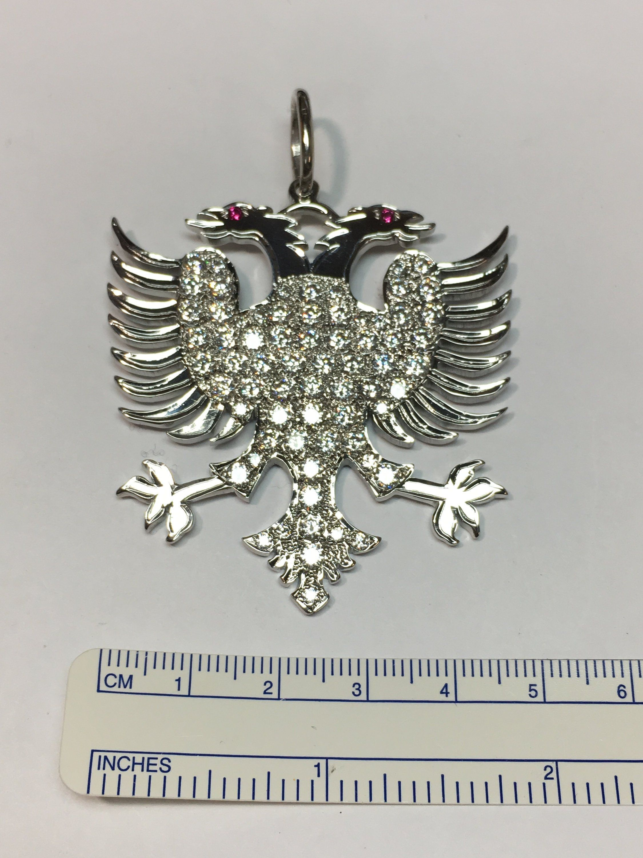 Jewel Zone US 14k Gold Over Sterling Silver Eagle Pendat Necklace