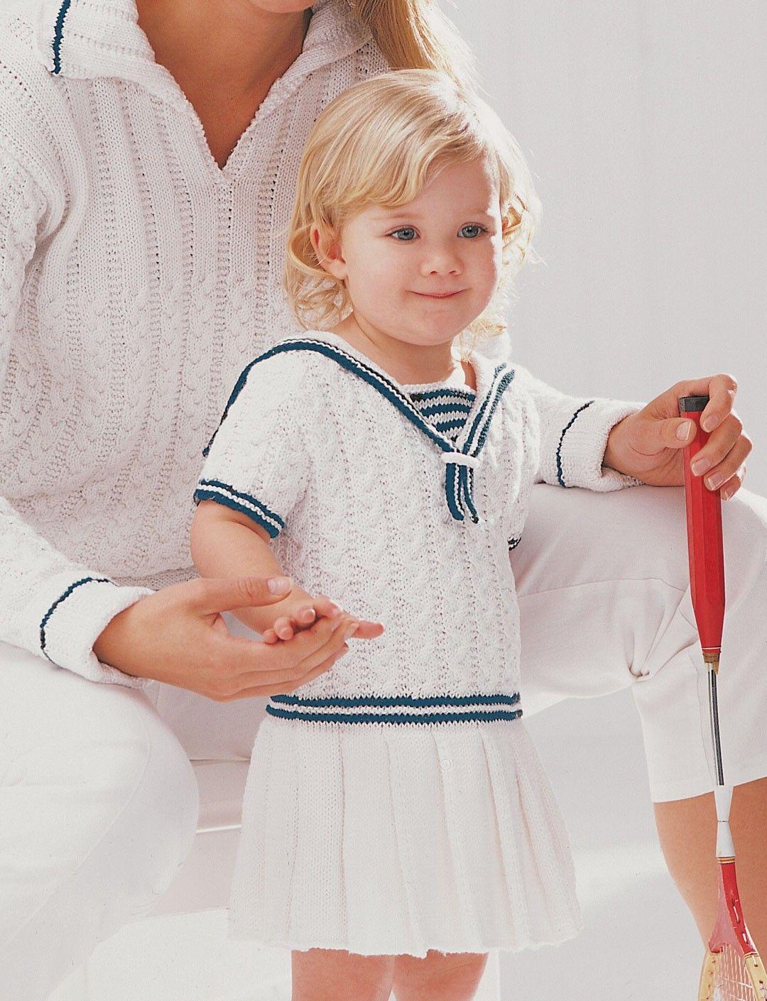 Yarnspirations.com - Patons Sailor Dress - Patterns | Yarnspirations ...