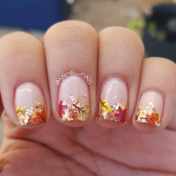 Are you looking for fall acrylic nails colors art designs that are  excellent for this fall? See our collection full of fall acrylic nails  colors art designs ... - 35 Cool Nail Designs To Try This Fall Glitter Gradient Nails