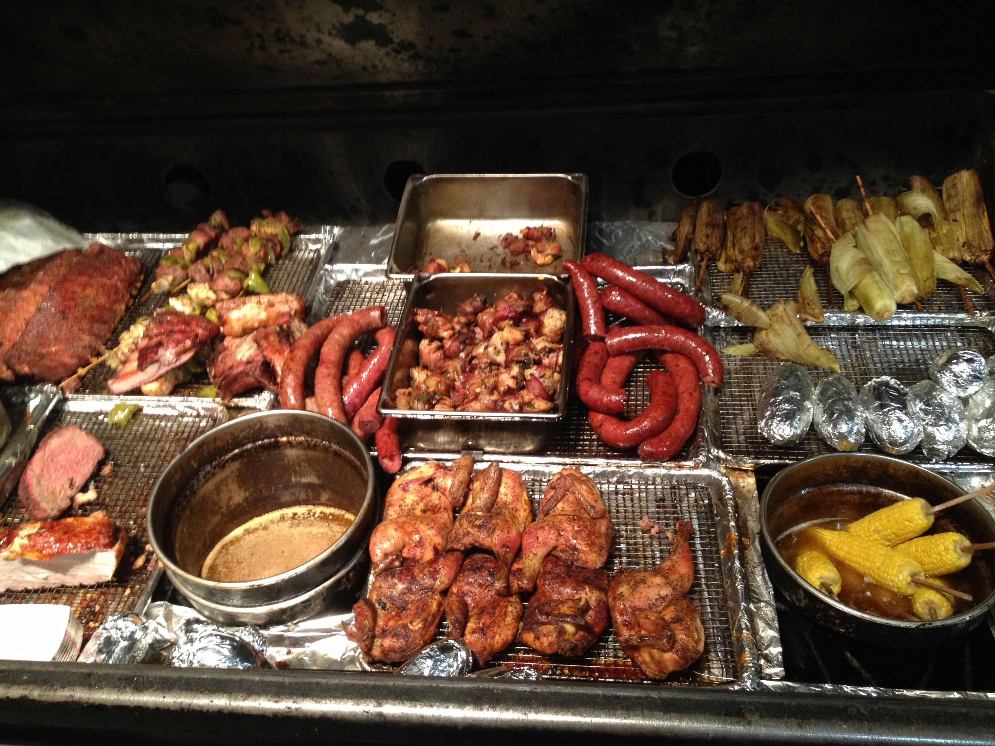 i love the brisket and spicy sausage - hard eight bbq dallas tx