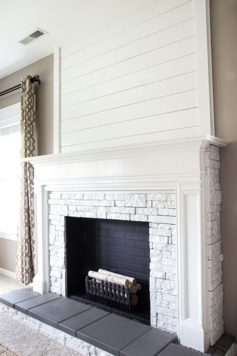 Good DIY Faux Fireplace Updated | Blesserhouse.com   This Fireplace Looks So  Real And It