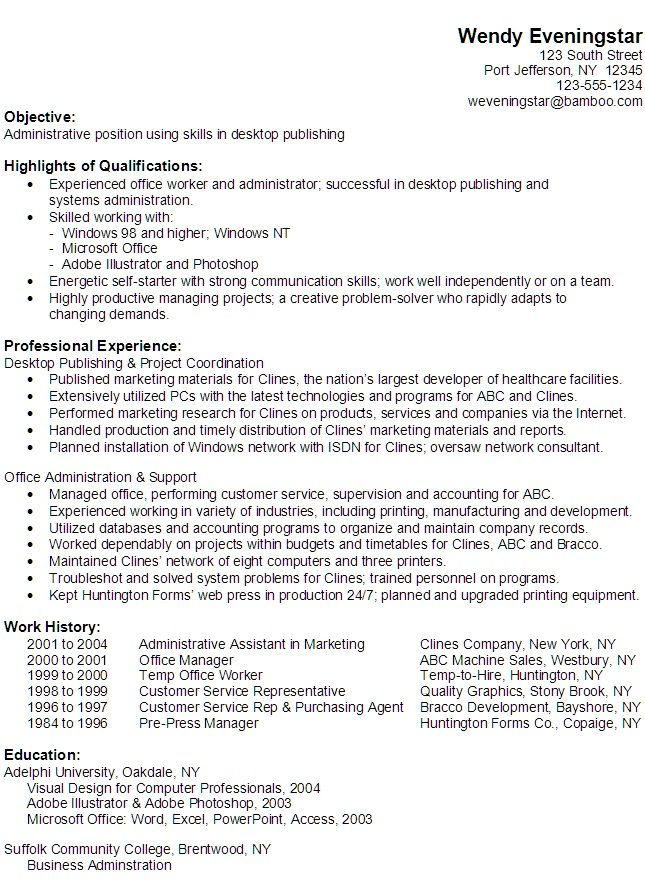 Example Of Computer Skills On Resume Resume Cv Cover Letter