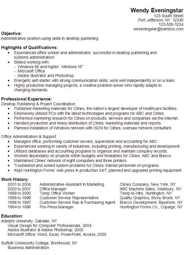 Administrative Professional Skills For Resume