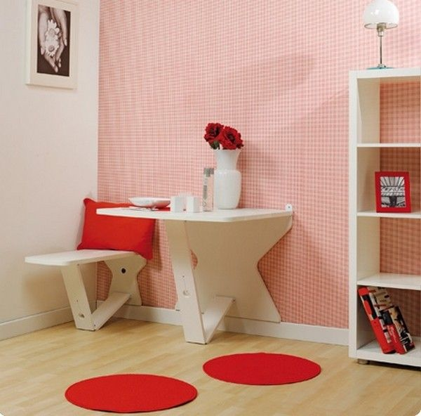 Retractable table set, perfect for small spaces | Small spaces ...