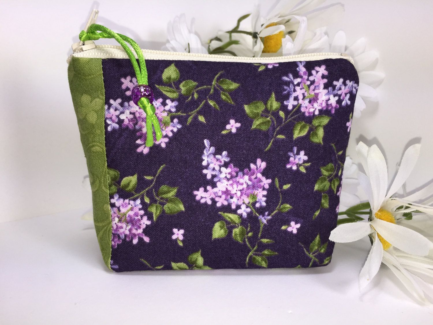 Leaves and Lilacs Coin Purse Business Card Holder Credit Card Holder ...