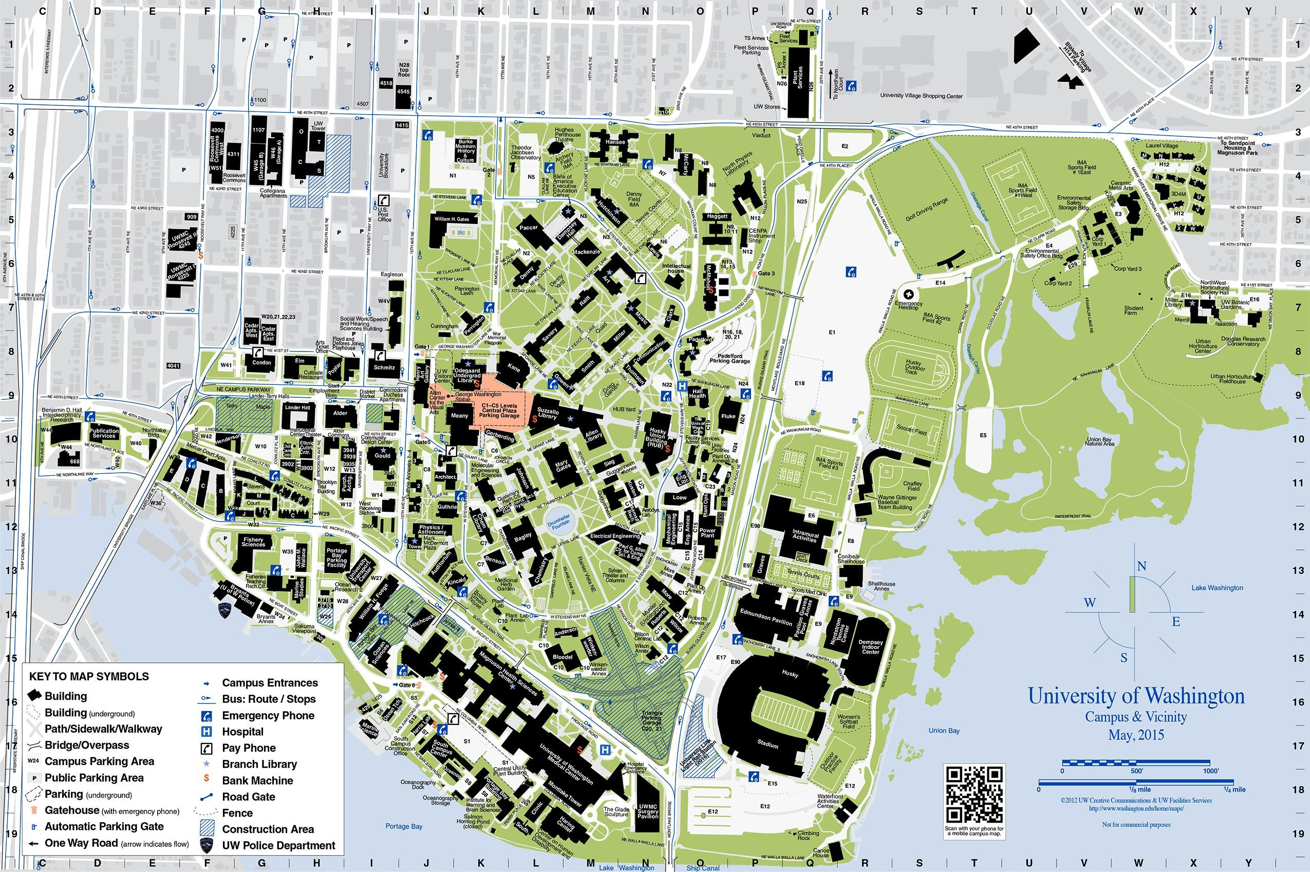 Washington University Campus Map Map of university of washington