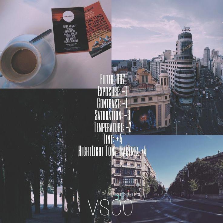VSCO Inspiration. My Edits For Urban Landscapes. Instagram