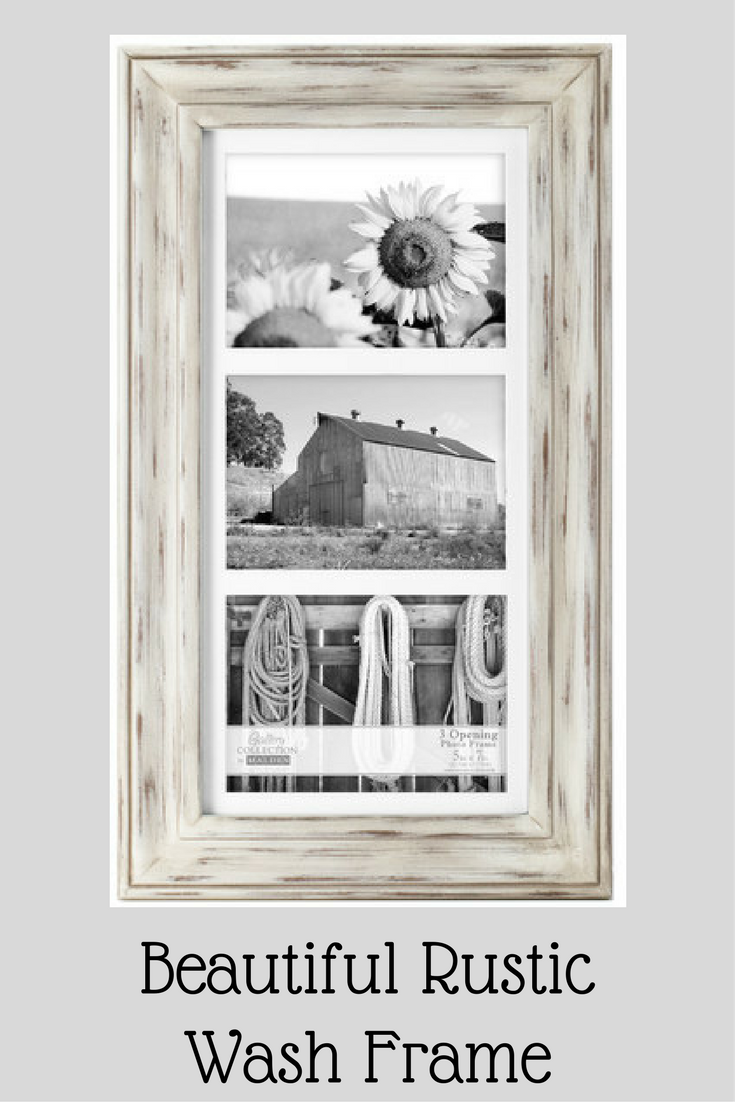 Personalize your Malden Rustic Wash Picture Frame. Beautiful color ...