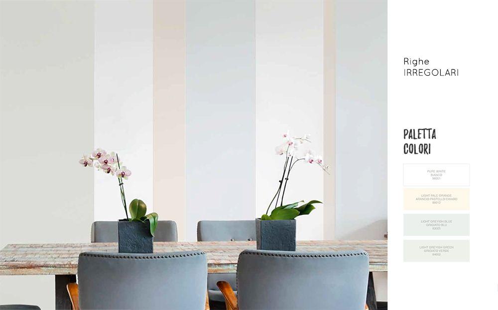 Camera A Righe Verticali : Dipingere casa a righe verticali irregolari. colori pareti