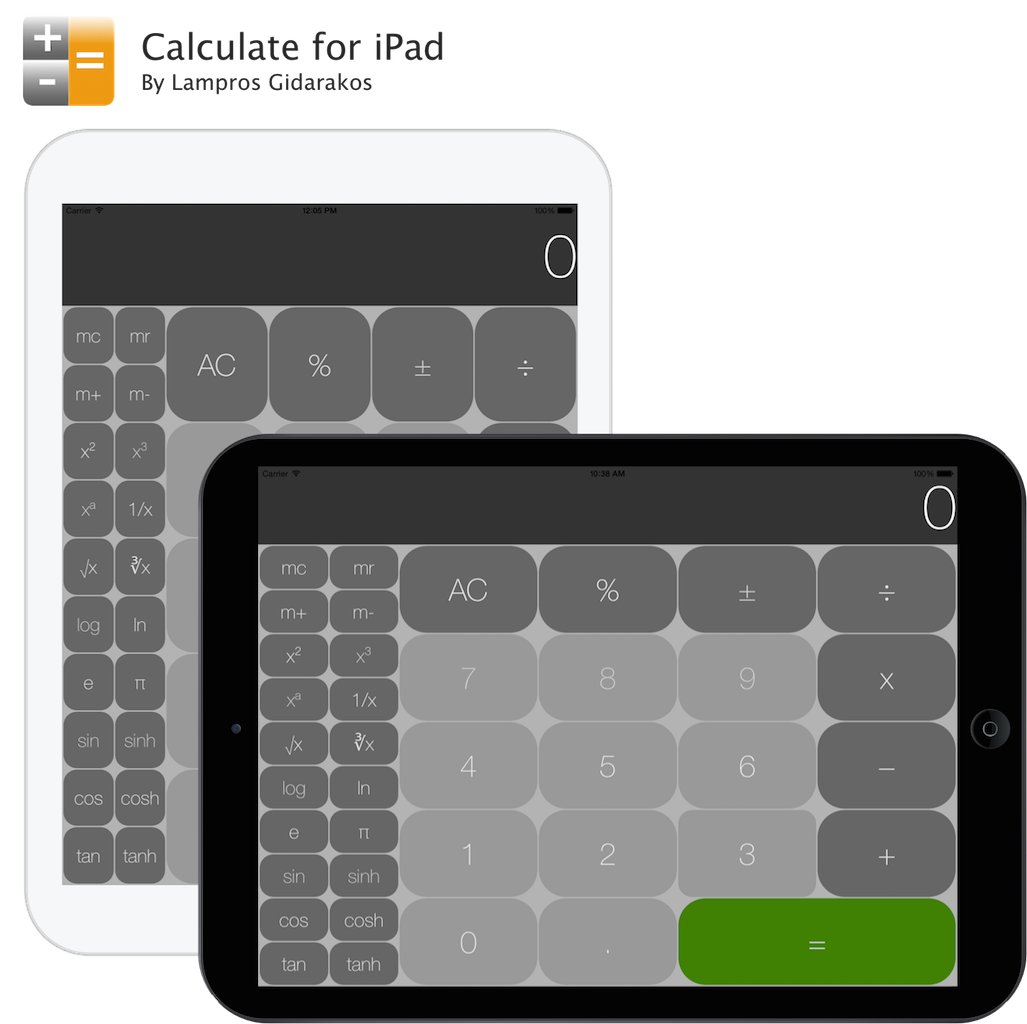 Calculate for iPad is the missing calculator for iPad